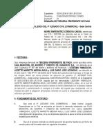 Demanda Terceria Preferente de Pago NAYRE CORDOVA CASSIAS