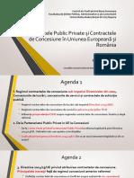 PPP si Concesiuni in UE si  Romania