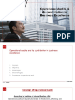 Operation audit and its contribution to business