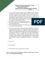 Exercicios de Verificacao Da Aprendizagem n 001-2010.2