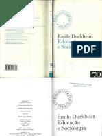 durkheim educaçao e sociologia.pdf