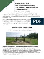 ICOE-Nyaungchaung Attack, Summarized