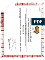 Sertifikat Akreditasi Prodi