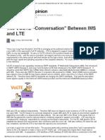 The VOLTE ìConversationî Between IMS and LTE - Bob - Expert Opinion - LTE University