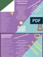 folleto inteligencia y creatividad