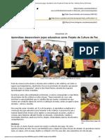 Aprendizes desenvolvem jogos educativos como Projeto de Cultura de Paz - Notícias Senac São Paulo