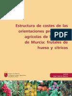 Estructura de costes de las orientaciones productivas agrícolas de la Región de Murcia frutales de hueso y cítricos