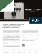 Seymour Duncan PS200 Power Amp Pedal Data Sheet