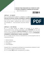 EDITAL DE CHAMADA - POÉTICAS DO EDUCAR 2020
