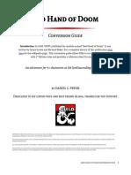 Red Hand of Doom - 5E Conversion Guide