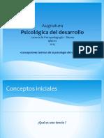 Concepciones teorícas de la psicólogia del desarrollo