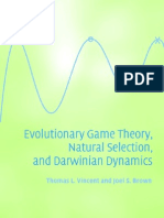 (Vincent, Brown) Evolutionary Game Theory, Natural Selection and Darwinian Dynamics