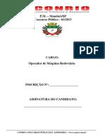 C010 - Caderno de Questoes - Operador de Maquina Rodoviaria