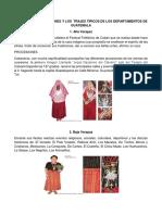 ÁLBUM DE LAS TRADICIONES Y LOS  TRAJES TÍPICOS DE LOS DEPARTAMENTOS DE GUATEMALA