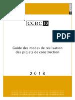 CCDC 10 - 2018 Guide des modes de réalisation des projets de construction