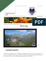 História de Loriga - Aldeias de Montanha - História Da Vila de Loriga Pelo Historiador António Conde