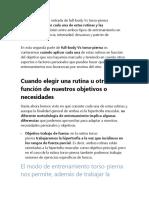 TORSO PIERNA + FULL BODY