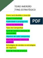 ROTEIRO IMERSÃO MARKETING ESTRATÉGICO