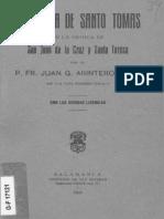 Influencia de Santo Tomas en la mistica de San Juan de la Cruz y Santa Teresa - Fr. Juan G. Arintero