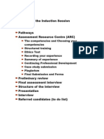 Structure of the Induction Session