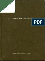 Atmosphaeren - P. Zumthor