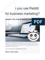 How Do You Use Reddit for Business Marketing