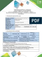 Guía de actividades y rúbrica de evaluación Tarea 1 - Identificar fuentes de contaminación y sus impactos.