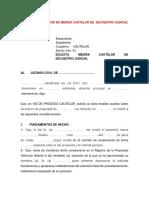 58.MODELO DE SOLICITUD DE MEDIDA CAUTELAR DE  SECUESTRO JUDICIAL