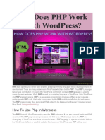 How Does PHP Work With WordPress