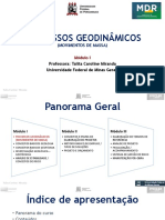 Aula 1 PROCESSOS GEODINAMICOS (MOVIMENTOS DE MASSA) PARTE 1