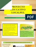 Proyecto Educativo Local Nuevo