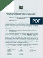 Press Release on Pending Bills 14 Feb 200001