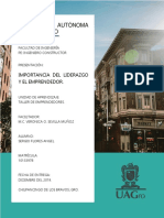 IMPORTANCIA DEL LIDERAZGO Y EL EMPRENDEDOR 05DIC19