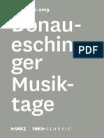 Donaueschinger 2019 program (outside)