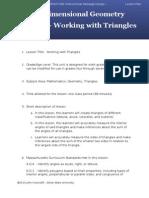 Lesson Plan 5 Triangles