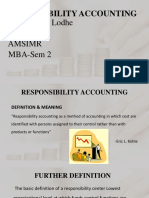 PPT ON RESPONSIBILITY ACCOUNTING.  aarti