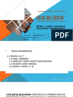 CASO DE ÉXITO EN LA ASESORÍA MTRA CINDY DANIELA