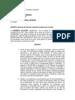 derecho de peticion barrio F