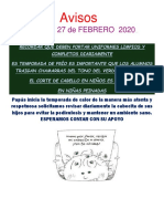 Avisos # 6 Febrero 2020