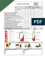 Inspeccion de Extintores