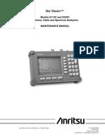 Anritsu S332C Maintenaince Manual