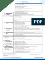Checklist - Partnership