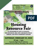 Sen. Persaud's Housing Resource Fair