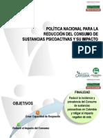 Política Nacional Reducción Consumo SPA