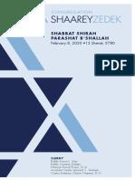 February 8, 2020 Shabbat Card