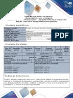 Guía para el uso de recursos educativos - Instalación Software de Optimización WinQSB - Relación de datos para situaciones problema (1)