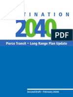 Pierce Transit - Destination 2040 Long-Range Plan Update