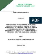 Plan de Manejo Ambiental Pav Pijiño Cra 15