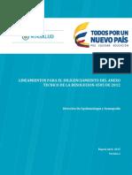 Explicaciones del Anexo técnico 2015 res 4505