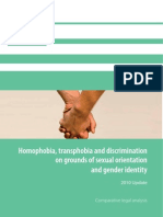 Homophobia, transphobia and discrimination on grounds of sexual orientation and gender identity